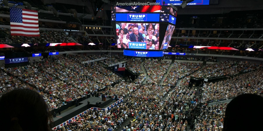 american_airlines_center_donald_trump_speech